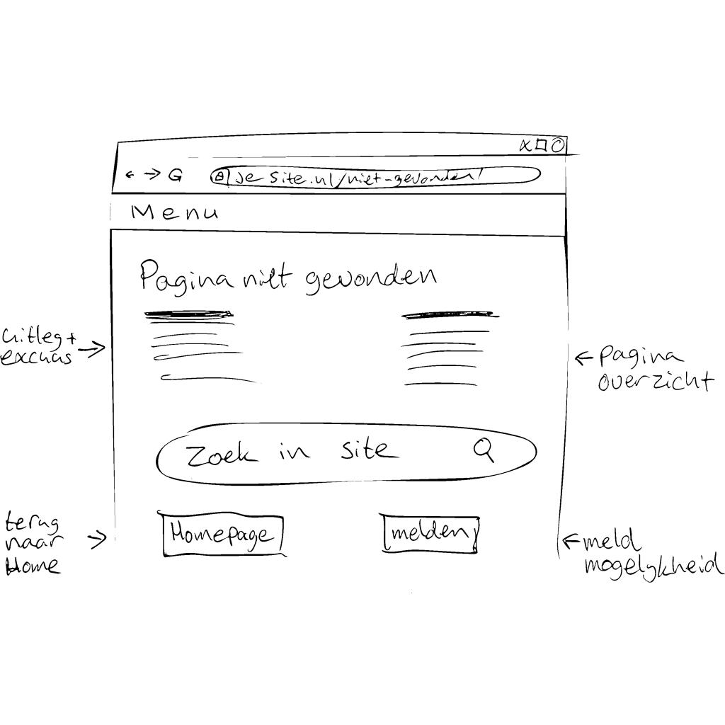 404 pagina schets